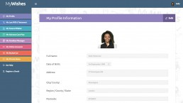 My Profile - MyWishes Software