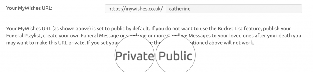 MyWishes public or Private