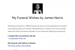 My Funeral Wishes document